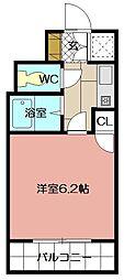 ライオンズマンション三萩野駅前 210号[2階]の間取り