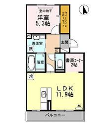 レチェ3[2階]の間取り