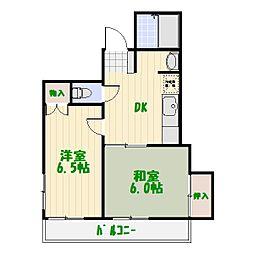 メリーマンション[0402号室]の間取り