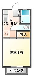 リバティ千代田[1階]の間取り