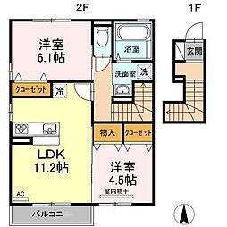 D−room南吉田(仮)[B205 号室号室]の間取り
