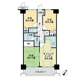 ライオンズマンションさがみ野第5[2階]の間取り