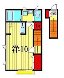 シルクコートB[2階]の間取り