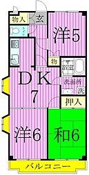 フラワーフィールドマンション[2階]の間取り