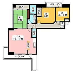 ザ・スクエア国府宮D棟[9階]の間取り