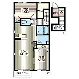S375[2階]の間取り