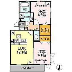 仮称)D-room原島[301号室]の間取り
