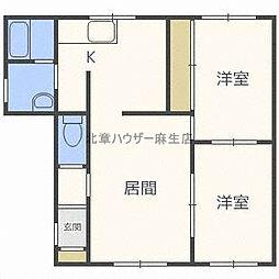 一棟二戸建 北35西3[1階]の間取り