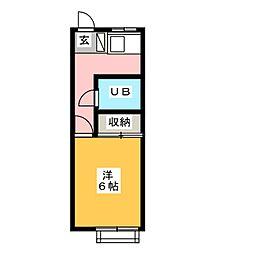 静野ハイツ[2階]の間取り