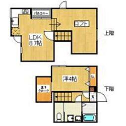 JR香椎線 和白駅 徒歩3分の賃貸アパート 1階1LDKの間取り