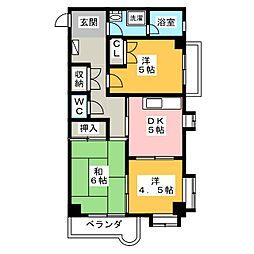 シャトレ・ド・フジ[3階]の間取り