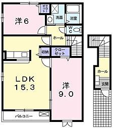 オブコニカ[2階]の間取り