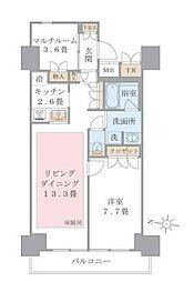 Brillia ist 東雲キャナルコート 7階1SLDKの間取り