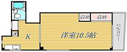 東京都葛飾区四つ木1丁目の賃貸マンションの間取り