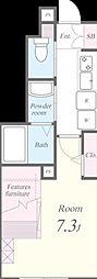 東京メトロ丸ノ内線 茗荷谷駅 徒歩9分の賃貸マンション 1階1Kの間取り