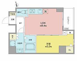 名古屋市営桜通線 高岳駅 徒歩8分の賃貸マンション 10階1LDKの間取り