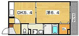 Y's place 2階1DKの間取り
