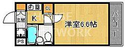 DETOM-1衣笠[308号室号室]の間取り