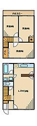 [テラスハウス] 神奈川県川崎市麻生区岡上 の賃貸【/】の間取り