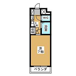 ベルメゾン本田[5階]の間取り