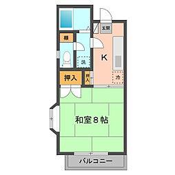 東京都江戸川区西小岩2の賃貸アパートの間取り