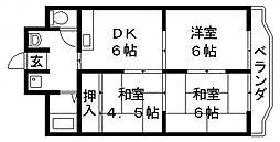 ウィル長田[302号室号室]の間取り