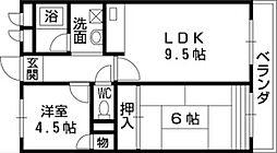 APARTMENT TANAKA(サンハイツ田中)[8階]の間取り