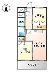 福岡県八女郡広川町大字久泉の賃貸アパートの間取り