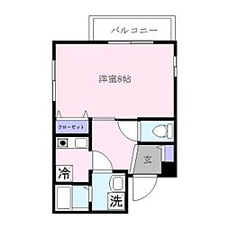 カンフォーラ春吉[1階]の間取り