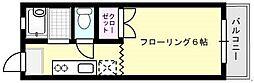 光ハイツI[105号室]の間取り