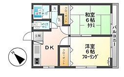 生田ハイツ[2階]の間取り