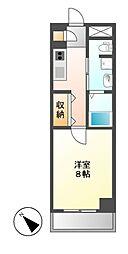愛知県名古屋市北区大曽根4丁目の賃貸マンションの間取り