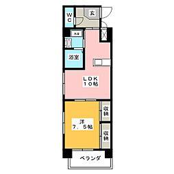 アトーレ野田[6階]の間取り