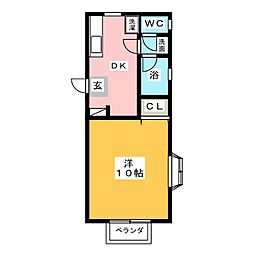 宮の内みずきコーポ[2階]の間取り