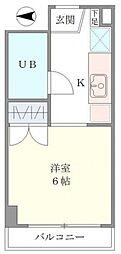 ベルメゾン三田[2階]の間取り
