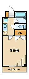 ハイム京浜[2階]の間取り