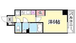 エスリード神戸三宮[907号室]の間取り
