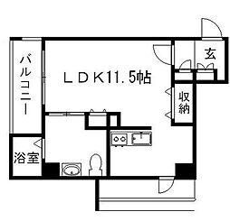 キューブ春吉アクア[4階]の間取り