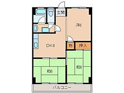 和歌山県和歌山市粟の賃貸マンションの間取り