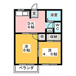 グリーンハウス平田[2階]の間取り