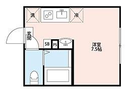 heim-HAPPYLAND(ハイムハッピーランド)[102号室]の間取り