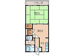 豊マンション[1階]の間取り