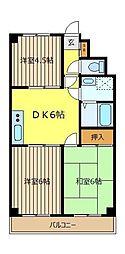 C−クレフ[4階]の間取り
