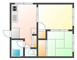 オクトハイツ[1階]の間取り