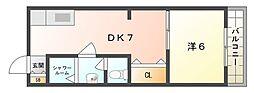 三幸マンション[2階]の間取り