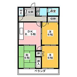 T&Kマンション[1階]の間取り