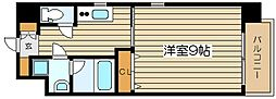 レジュールアッシュJUSO[5階]の間取り