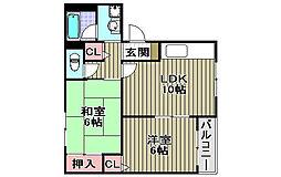 サンライズ加茂壱番館[3階]の間取り