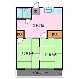コーポ石丸[2階]の間取り