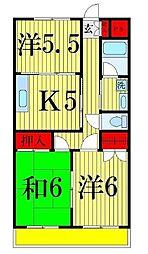 ヨコタハイツ[206号室]の間取り